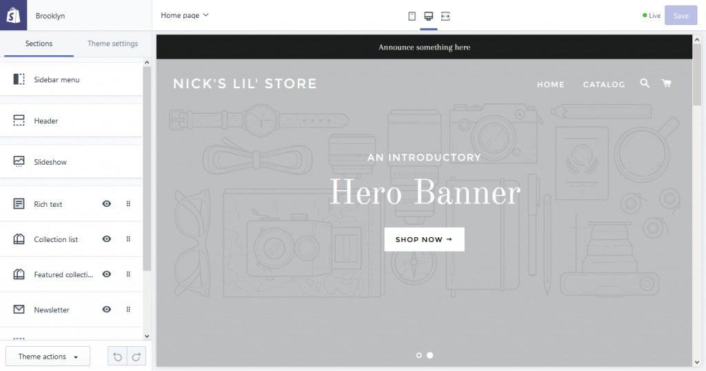 customize Shopify website