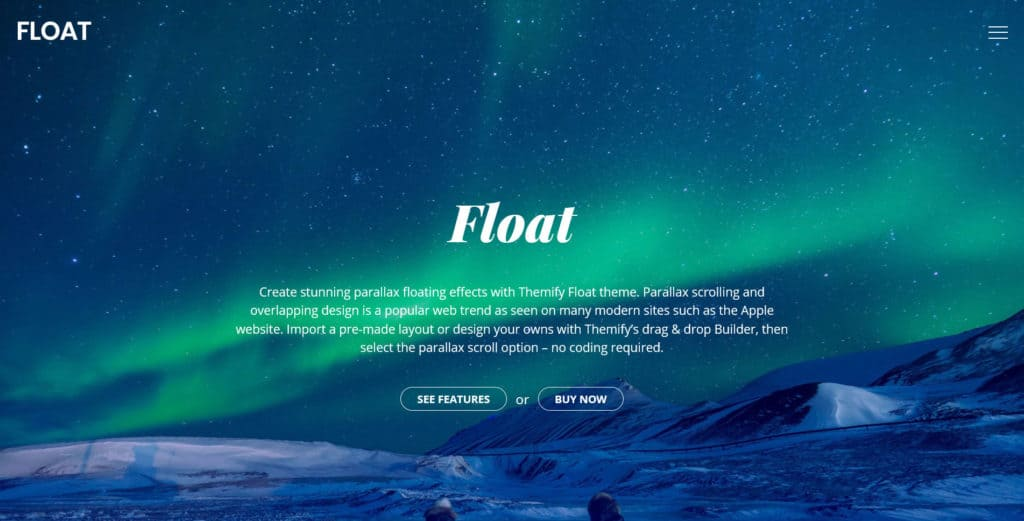 float flexible wordpress theme