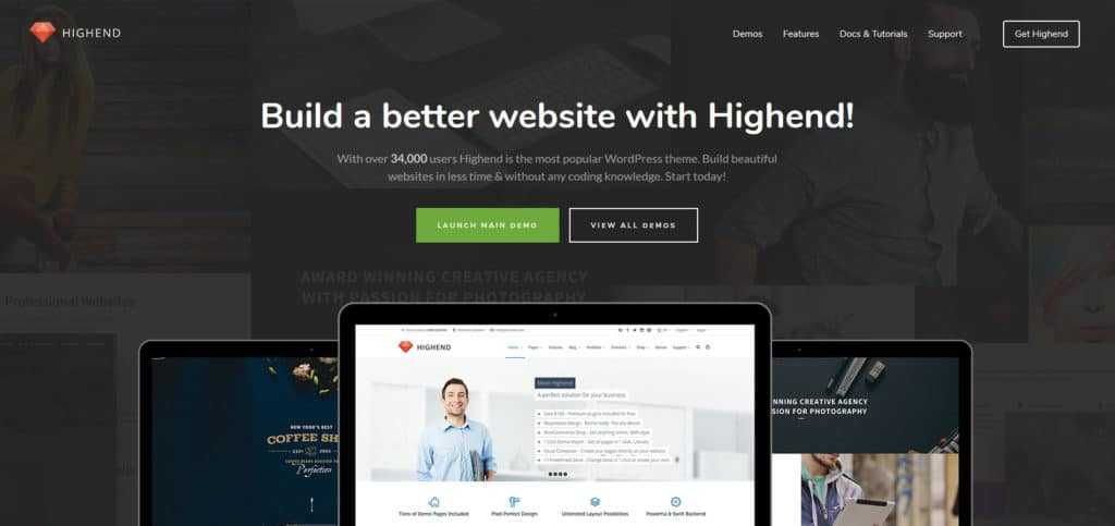 highend multi purpose wordpress theme