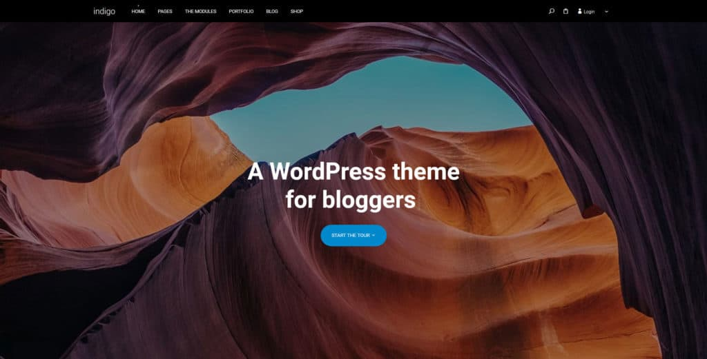 indigo customizable wordpress theme
