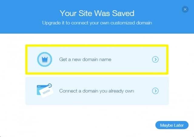 Wix domain name
