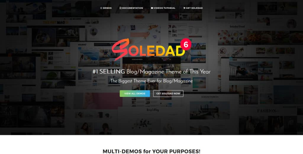 soledad multi purpose wordpress theme