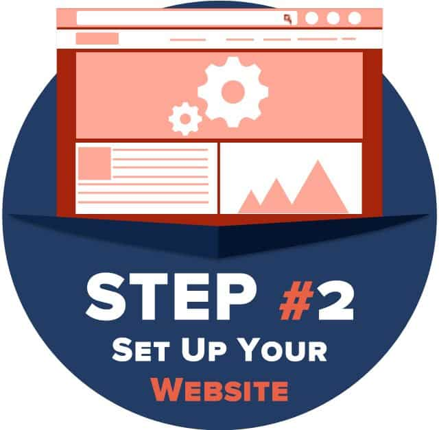 Step 2 - set up your website