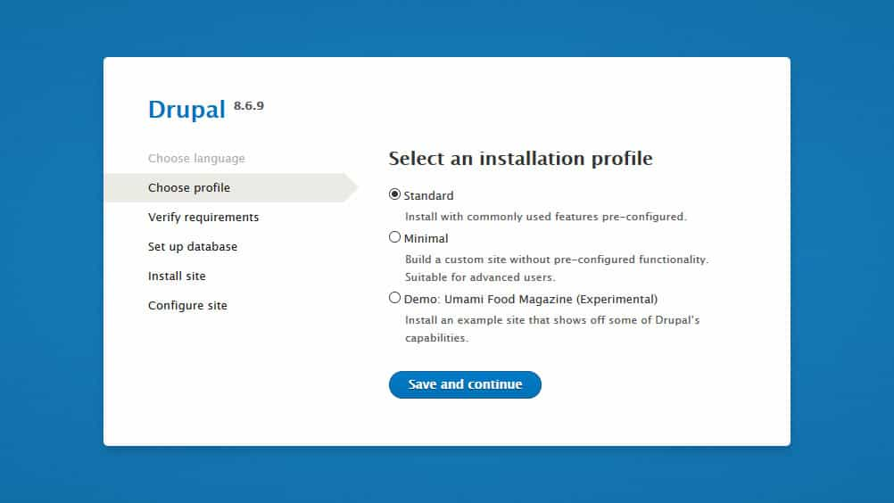 drupal installation step 2