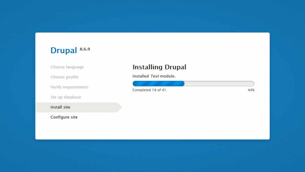 drupal installation step 5