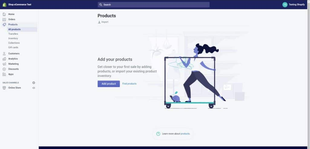 Your product screen