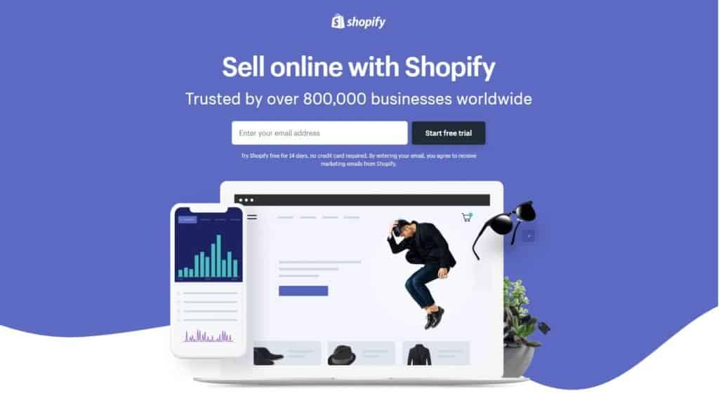 Shopify homepage