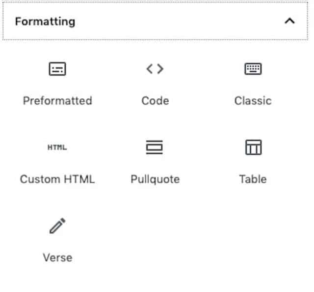 Formatting-Blocks