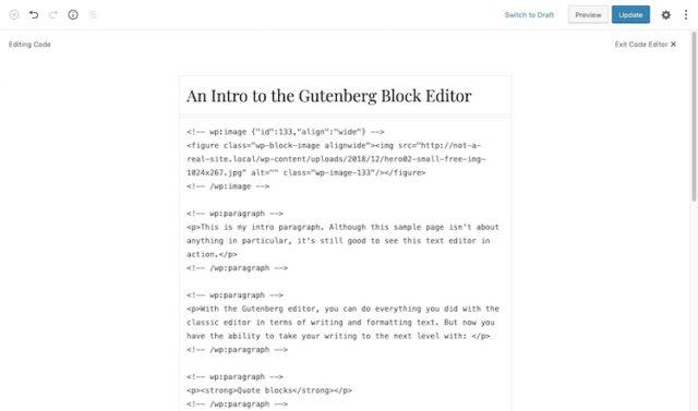 Gutenberg-Code-Editor