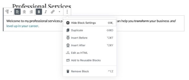 Gutenberg-More-Block-Options