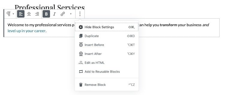 Gutenberg-More-Block-Options