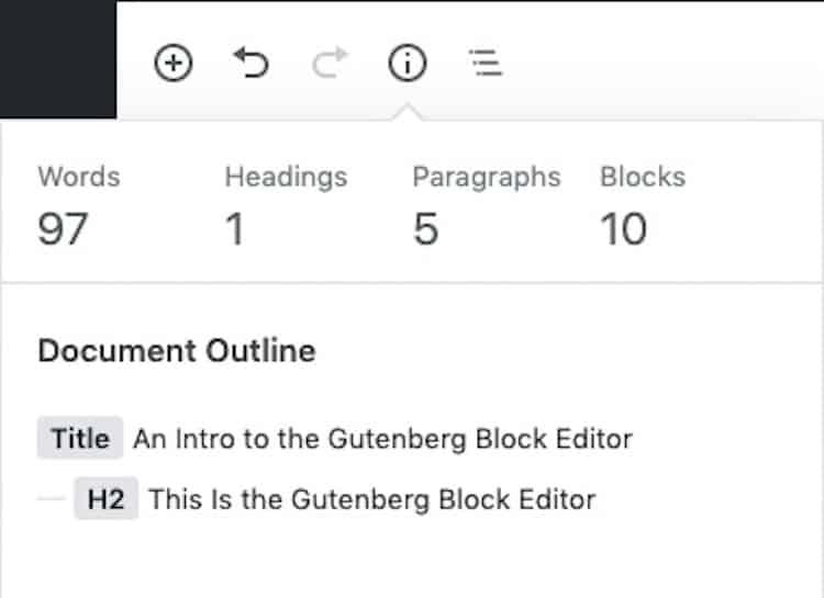 Gutenberg-Toolbar-Info