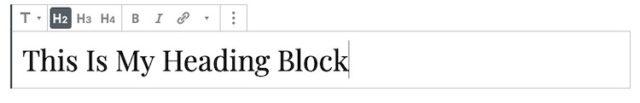 Heading-Block
