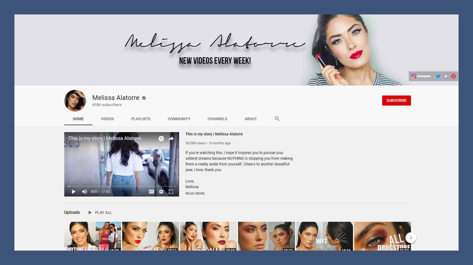 Melissa Alatorre YouTube