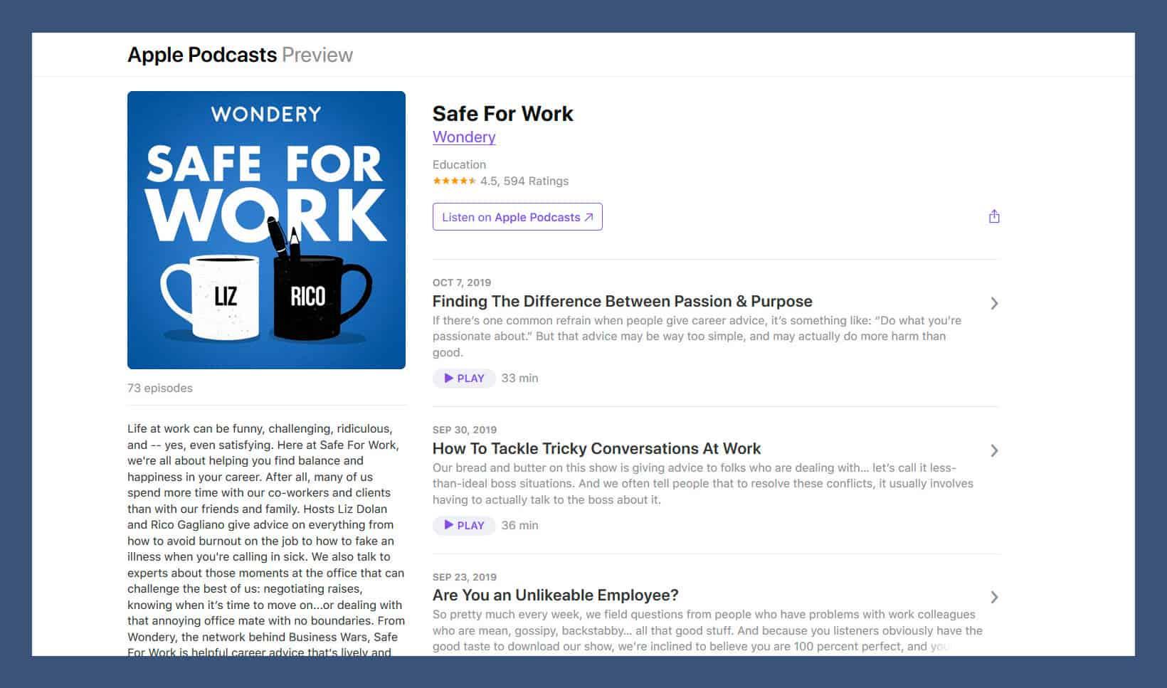 Safe for Work podcast