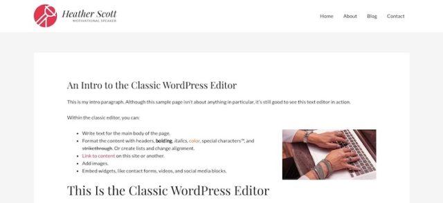 WordPress-Page-Example
