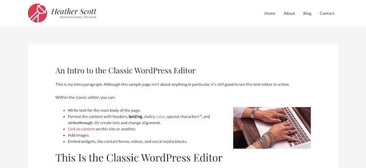 WordPress-Page-Example