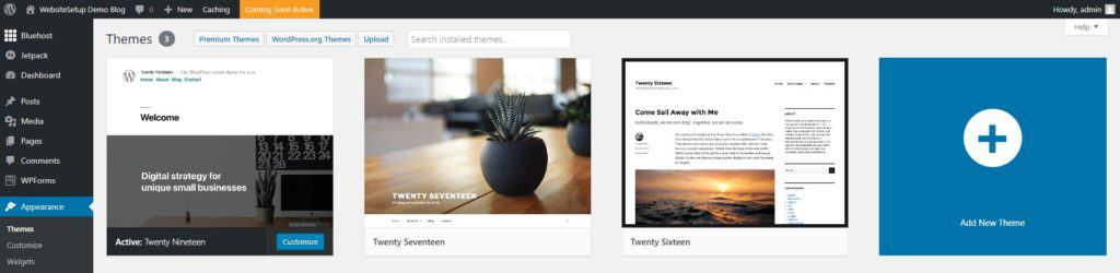 WordPress add a new theme