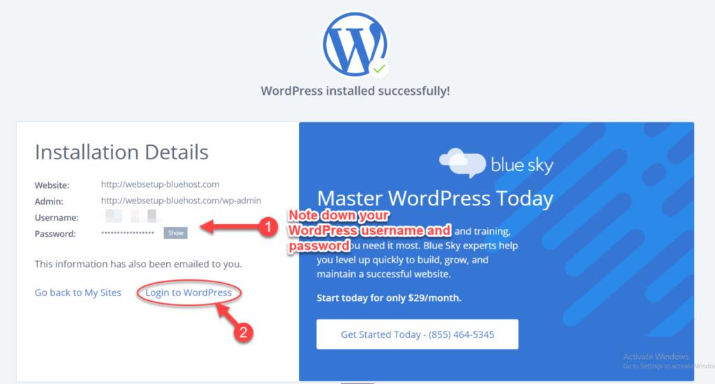 BH wordpress success