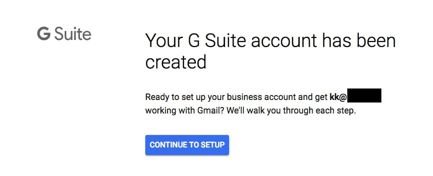 g suite created