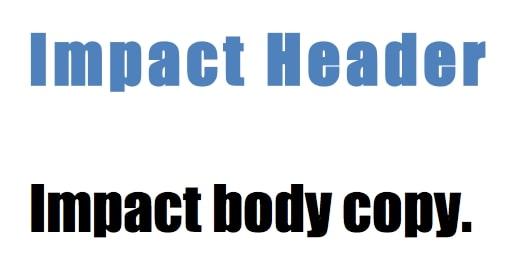 Web Safe Font - Impact