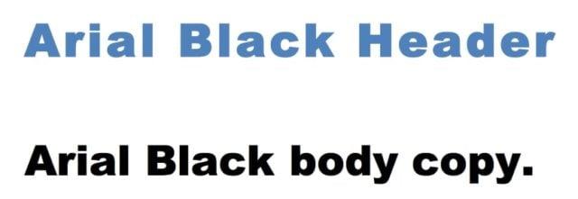 Web Safe Font - Arial Black