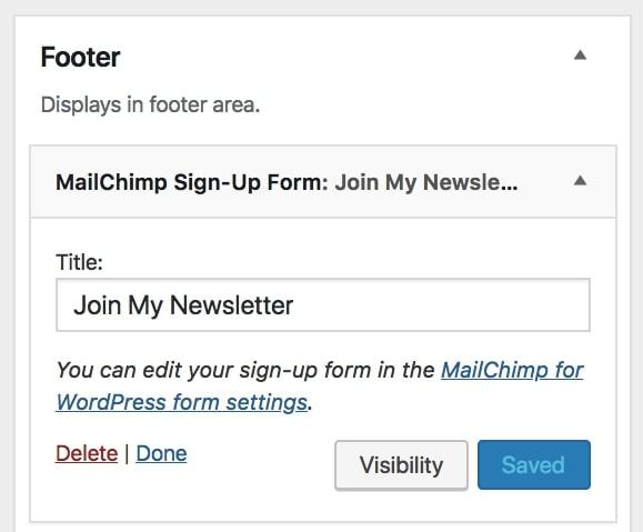 new form widget