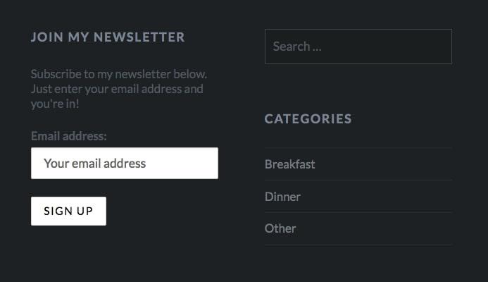 live newsletter form