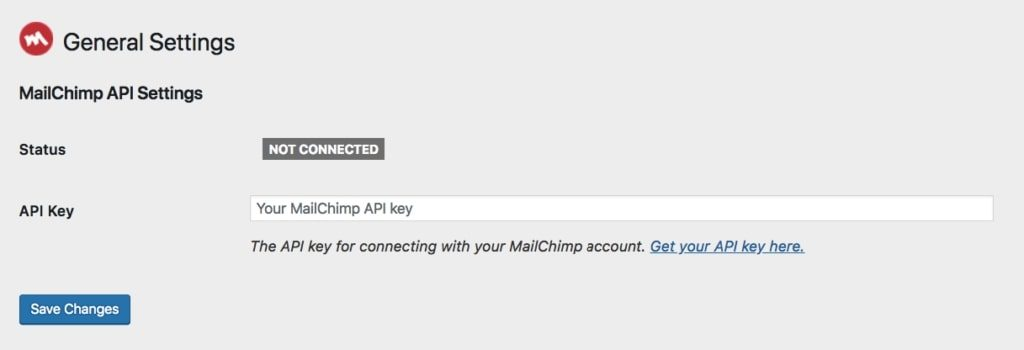 API setting