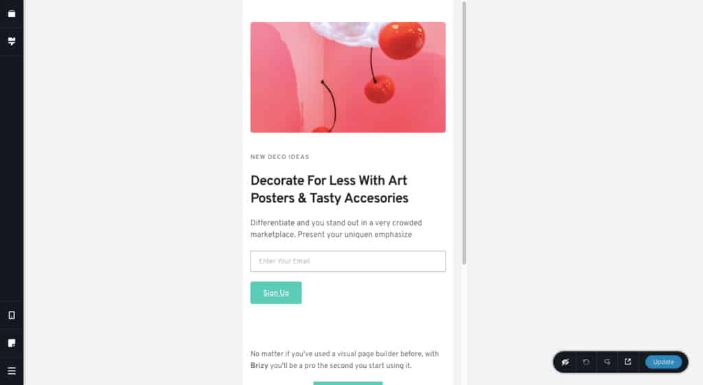 Brizy Responsive View