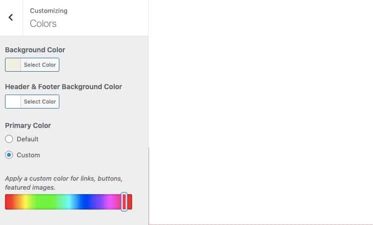 Personalizza i colori