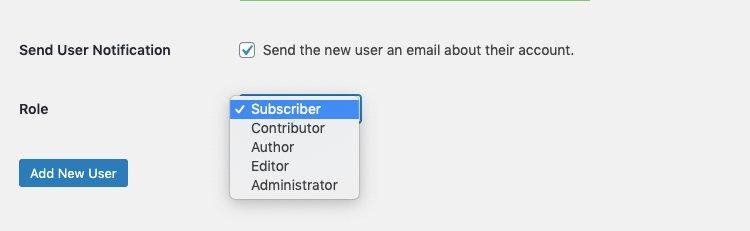 Personalizza il ruolo utente
