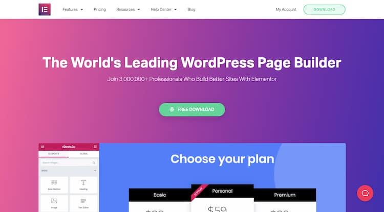 Elementor WordPress Page Builder Plugin