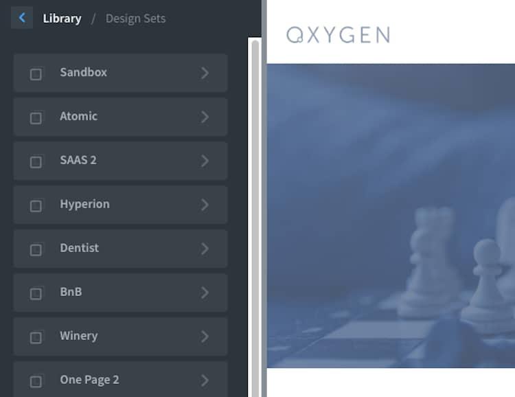 Oxygen Design Sets