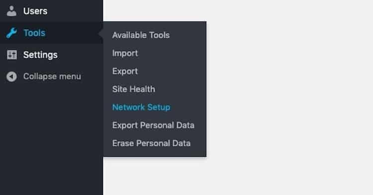 Tools Network Setup
