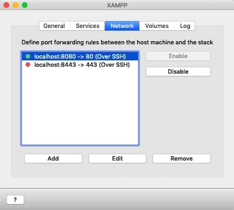 XAMPP Network
