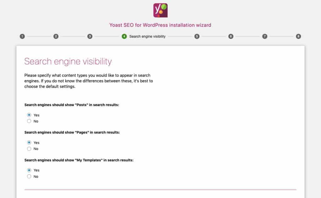 Yoast - Visibilità