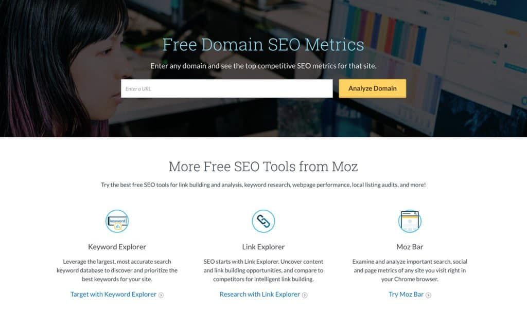 Moz offers free tools to give visitors an incentive to return to their website.