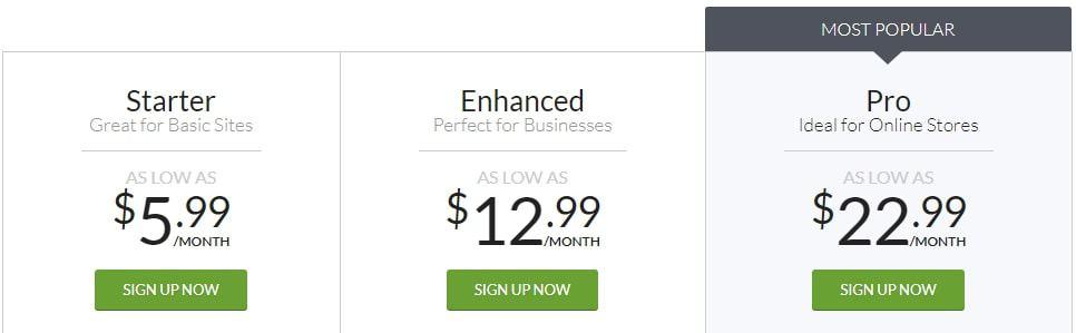 Webs Pricing