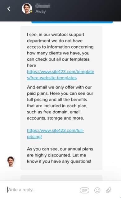 Site123 Customer Service