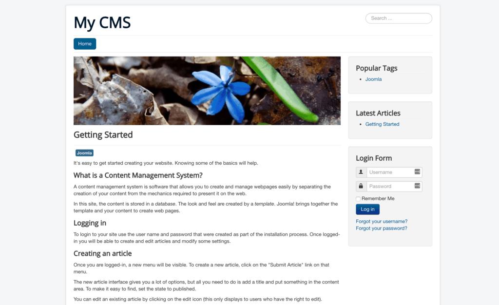 Best CMS: joomla design