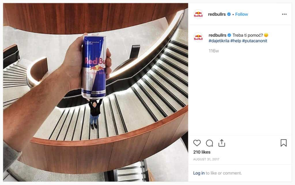 #PutACanOnIt - RedBull branded hashtag drove more than 1,000 followers to take pictures of themselves with a RedBull can.