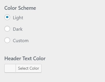 WordPress set colors