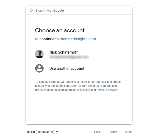 Sign into Google Account