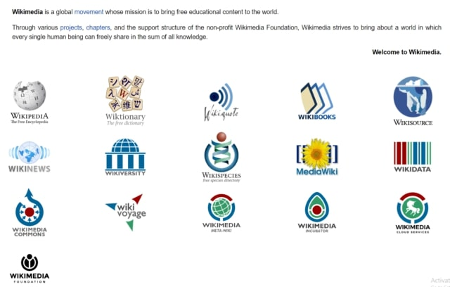 wikimedia home