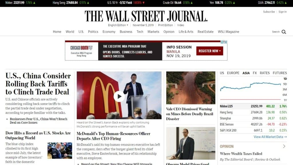 wsj home