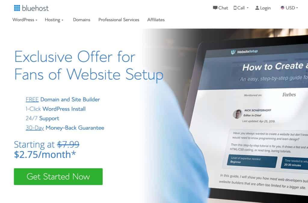 Avvia un negozio online su Bluehost
