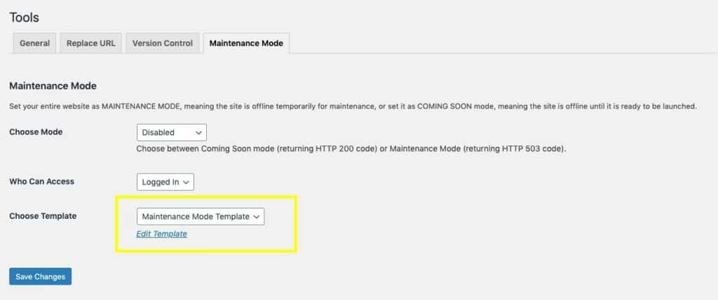Elementor Tools Maintenance Mode