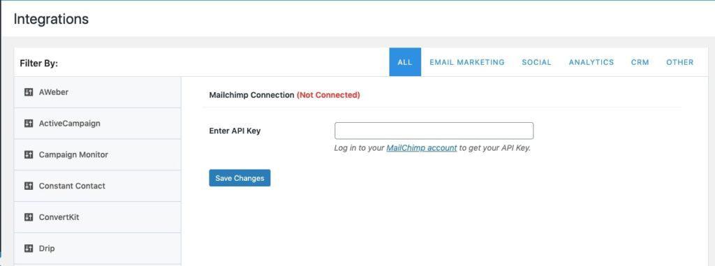 MailOptin MailChimp Integration