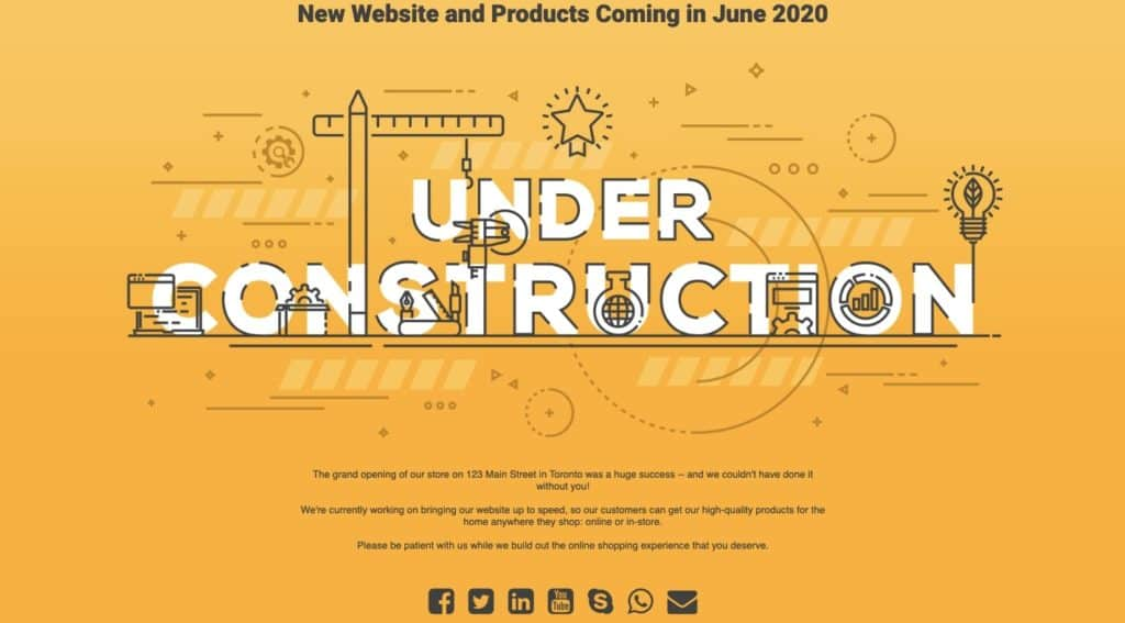 New Under Construction Page